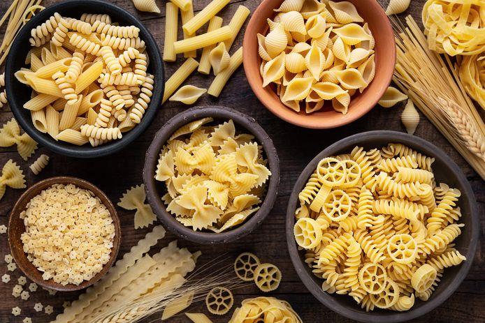 Pasta was er al in veel vormen: strikjes, spiralen, schepjes, wielen en buisjes.