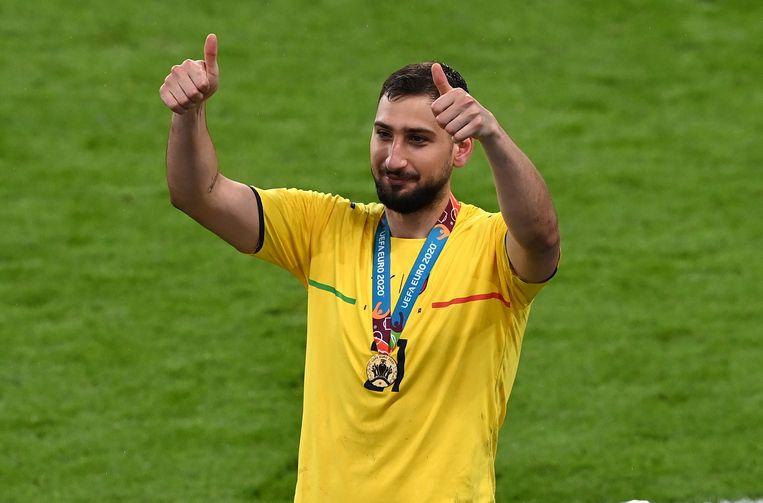 Donnarumma werd verkozen tot speler van het toernooi. Italië werd Europees kampioen. Beeld EPA