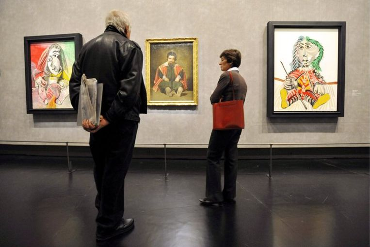 De expositie in Grand Palais in Paris is vorige week geopend. Foto EPA/Yoan Valat Beeld