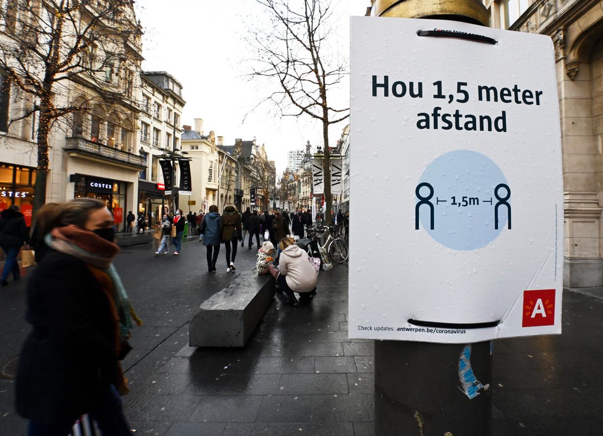 Le Meir, la principale rue commerçante d'Anvers.