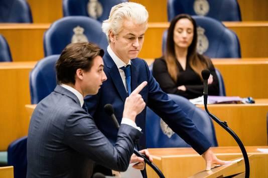 Thierry Baudet (FvD) en Geert Wilders (PVV)