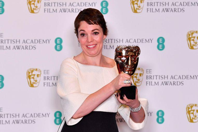 Olivia Colman, hoofdrolspeelster in 'The Favourite', won de BAFTA voor beste actrice. Beeld AFP