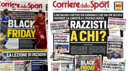 Italiaanse sportkrant reageert met (opvallende) frontpagina op kritiek na 'Black Friday'-cover