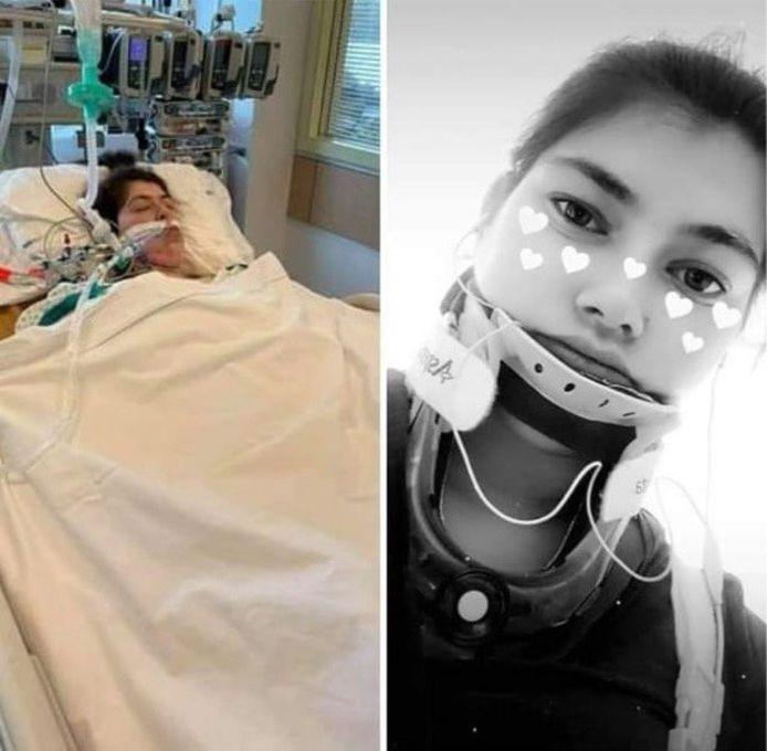 Lisa mag het ziekenhuis verlaten na het zware ongeval in Zelzate.