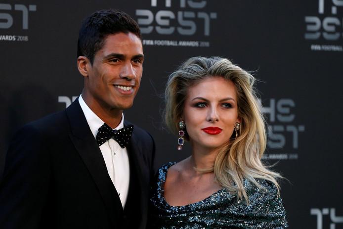 Raphael Varane en zijn vrouw Camille Tytgat.