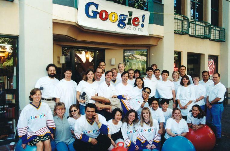 De allereerste medewerkers van Google, foto uit 1998.