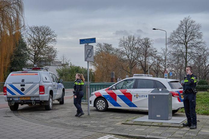 Brisantgranaat aangetroffen in de Michiel de Ruyterstraat in Breda.