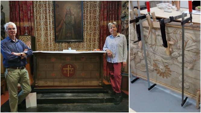 """Parochianen restaureren waardevol kunstwerk uit achttiende eeuw mét hint naar Notre-Dame: """"Per toeval ontdekt en nipt van de ondergang gered"""""""