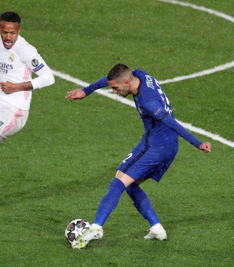Chelsea houdt Real met invaller Ziyech simpel op gelijkspel in Madrid