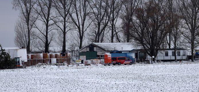 De ontmanteling van het drugslab in januari.