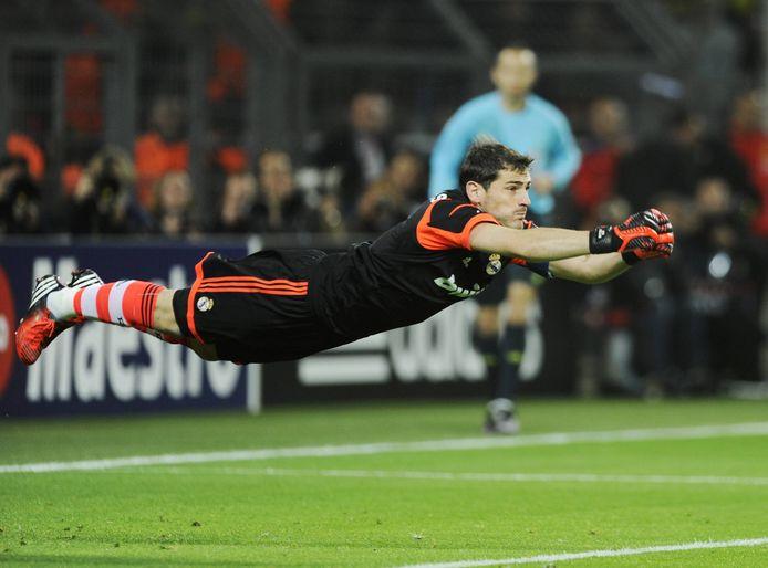 Een redding van Iker Casillas tijdens het Champions League-duel met Borussia Dortmund in 2013.