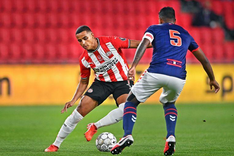 Mohamed Ihattaren, toptalent van PSV, werd onlangs uit de A-selectie gezet. Beeld