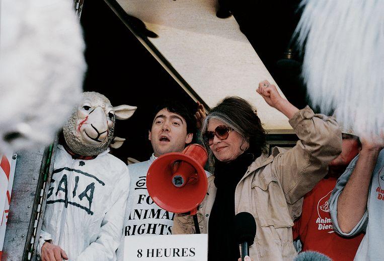 1995. Eén front met Brigitte Bardot in de strijd tegen de verre veetransporten.   Beeld rv