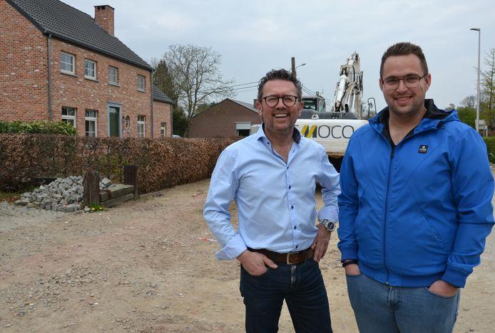 Ronny Vergeylen en Simon Vandermeulen zijn blij met het goedgekeurd mobiliteitsplan.