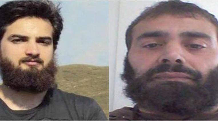 Syriëstrijders Ishaq en zijn vader Hasan Ahmed (r.).  Beeld rv