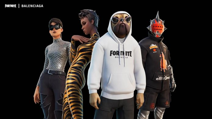 In het spel Fortnite zijn vanaf nu virtuele Balenciaga-outfits te koop.