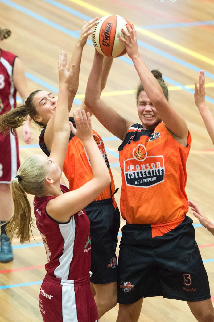 Archieffoto van de basketbalsters van Wyba