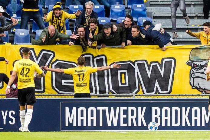 Zijn laatste doelpunt in het NAC-shirt maakte Van Hooijdonk in de finale tegen NEC.