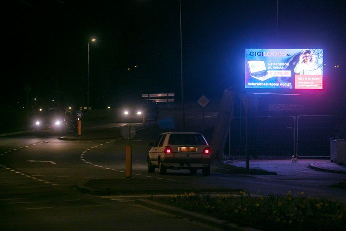 Lichtreclame in Rosmalen.