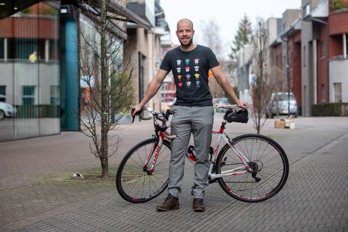Birger is zelf ook vaak onderweg met de fiets.