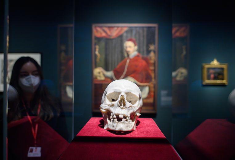 De marmeren schedel van Bernini. Beeld Robert Michael/dpa-Zentralbild/d