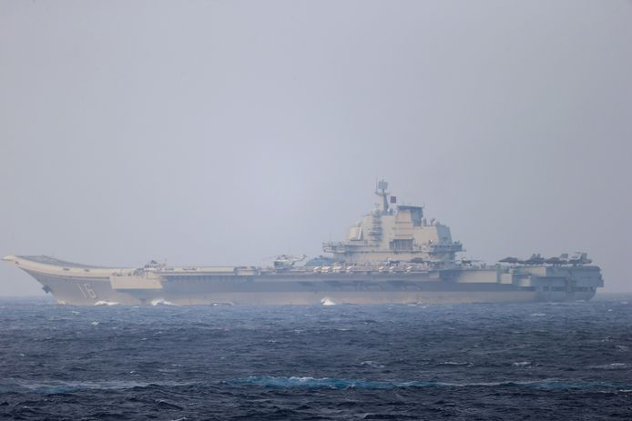 Een Chinees vliegdekschip (archiefbeeld)