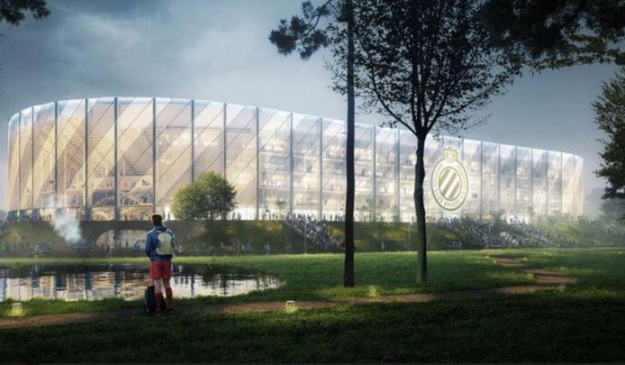 Het nieuwe stadion van Club Brugge.