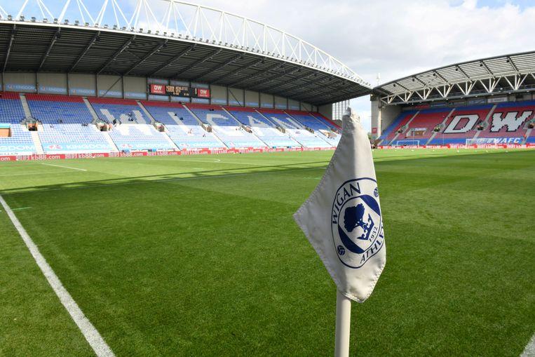 Het DW Stadium van Wigan Athletic