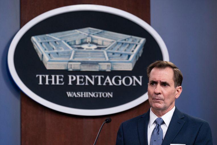 Woordvoerder van het Pentagon, John Kirby  Beeld AP
