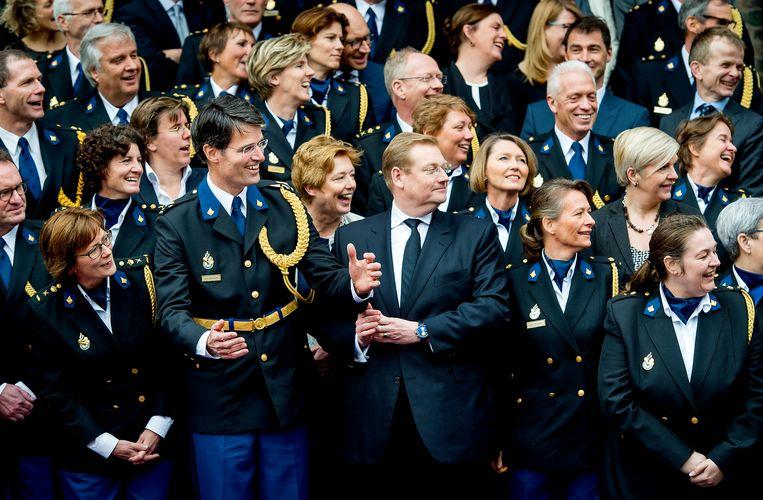 Erik Akerboom wordt tijdens een ceremoniële bijeenkomst in de Ridderzaal officieel geïnstalleerd als chef van de Nationale Politie.  Beeld ANP