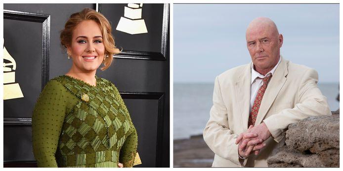 Adele en haar vader Mark Evans