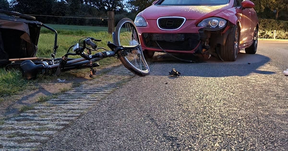 Hond en fietser gewond door botsing met auto in Breedenbroek.