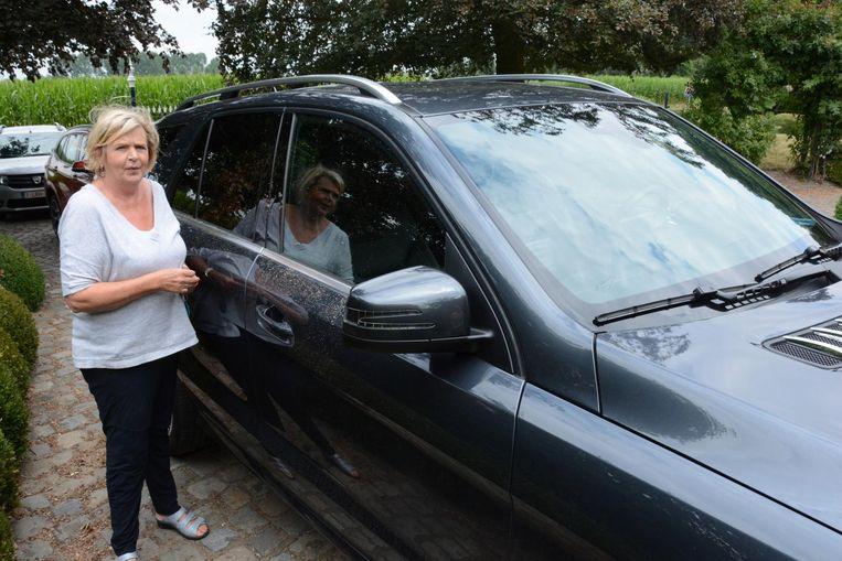 Lut Verhaert kon gisteren voorkomen dat een groepje inbrekers met hun wagen konden wegrijden.