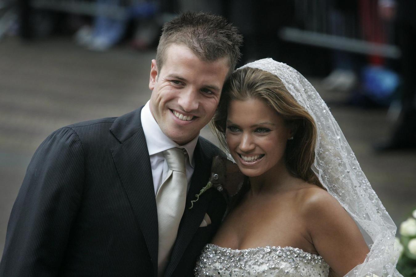 Rafael en Sylvie tijdens hun huwelijk in 2005.