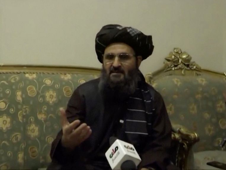 Taliban-leider Abdul Ghani Baradar. Hij zou overhoop liggen met de extremistische vleugel van de islamitsiche groepering. Beeld Reuters