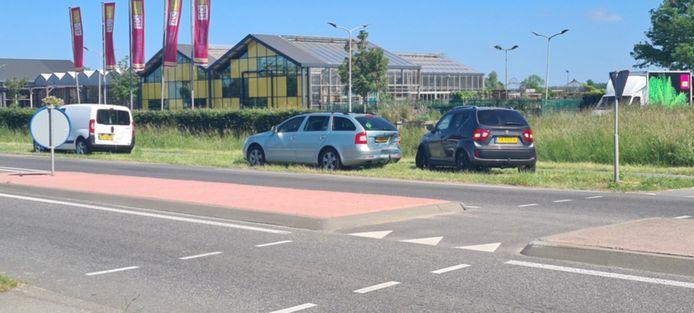 Bij de botsing waren drie auto's betrokken.
