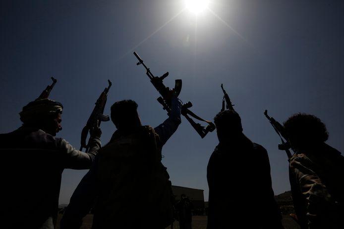 Gewapende Houthi-rebellen. Archiefbeeld.