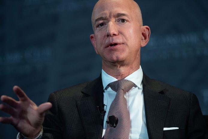 Amazonbaas, miljardair en dé allerrijkste mens ter wereld, Jeff Bezos.