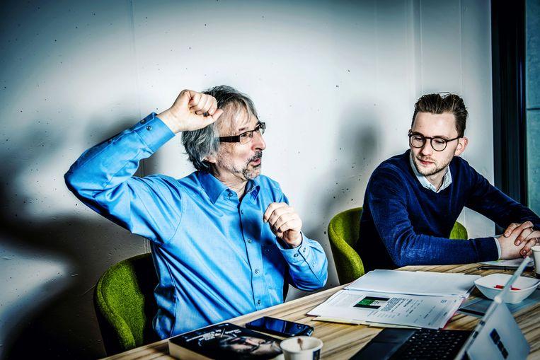 Ivo Mechels en Simon November. Beeld Geert Van De Velde