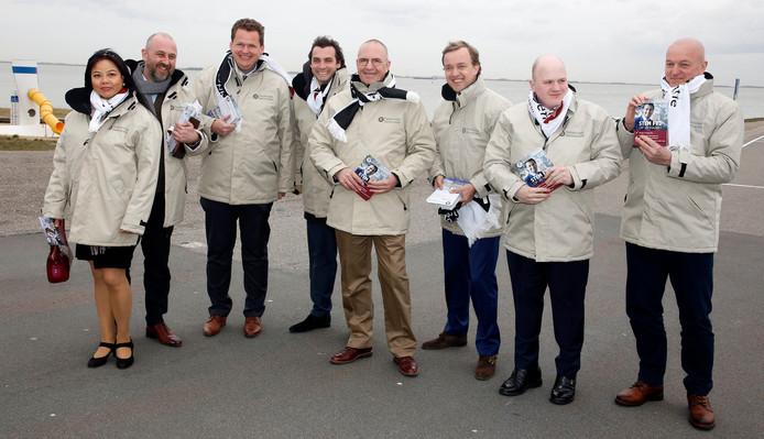 Het Zeeuwse team van Forum voor Democratie, met vierde van links Thierry Baudet.