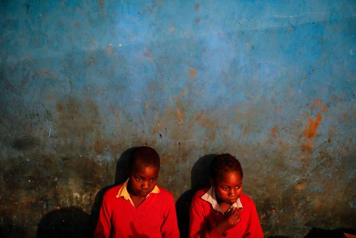 Kinderen in een weeshuis in Kenia.
