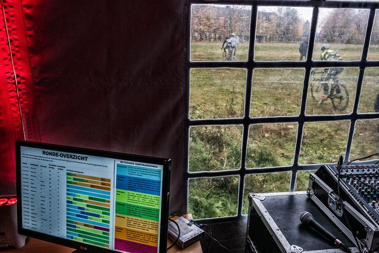In Heverlee werd Conamo alvast al eens uitgetest bij de jonge veldrijders. De innovatieve oplossing combineert hardware en software voor draadloze communicatie en realtimedata-analyse van imec, UAntwerpen, UGent en VUB, met softwaretoepassingen van Energylab, VRT en Rombit. Beeld Tim Dirven