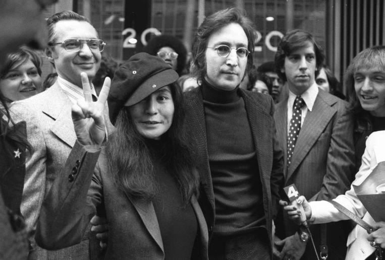 John Lennon en Yoko Ono. Beeld AP