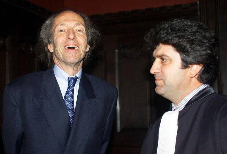 Baron Benoît de Bonvoisin (l.) en zijn advocaat, Julien Pierre, op een archieffoto. Beeld BELGA