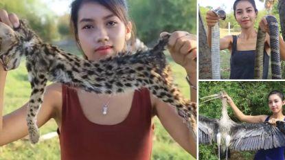 Vrouw filmt zichzelf terwijl ze bedreigde en beschermde dieren opeet in de hoop rijk te worden via Youtube