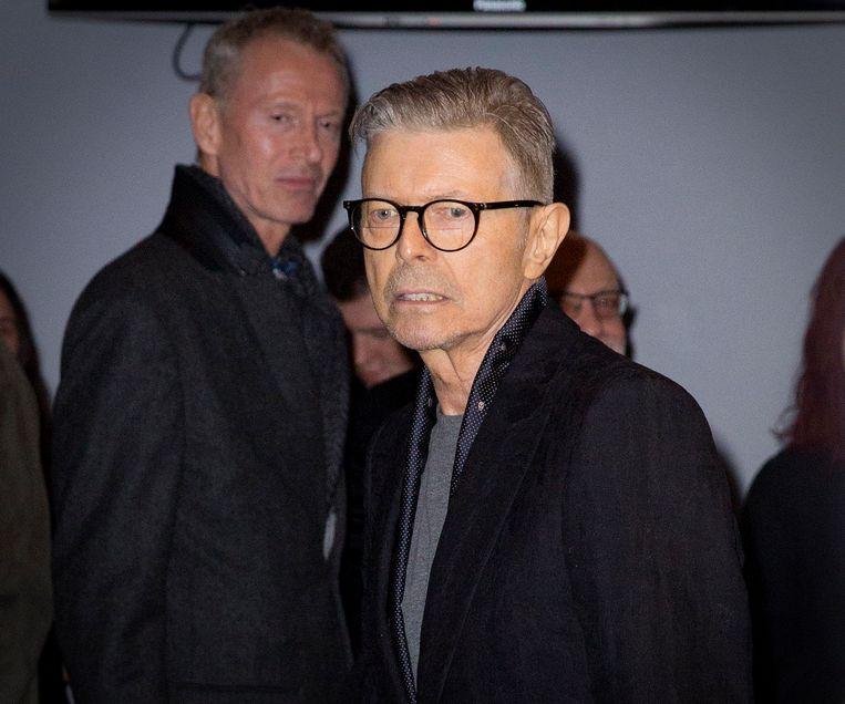David Bowie op de avond van de première van de musical 'Lazarus'. Beeld ANP Kippa