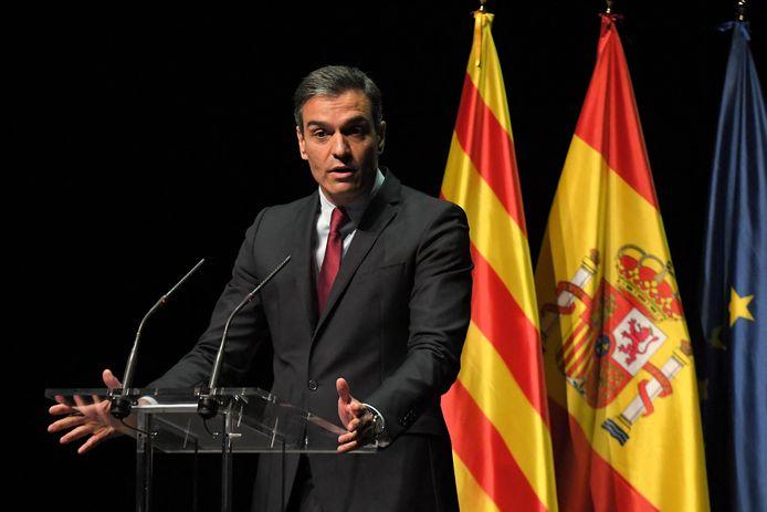 Le Premier ministre espagnol Pedro Sanchez à Barcelone ce lundi 21 juin
