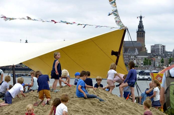 Het Festival op 't Eiland was terug en werd de meest relaxte plek van de Vierdaagsefeesten. foto Flip Franssen