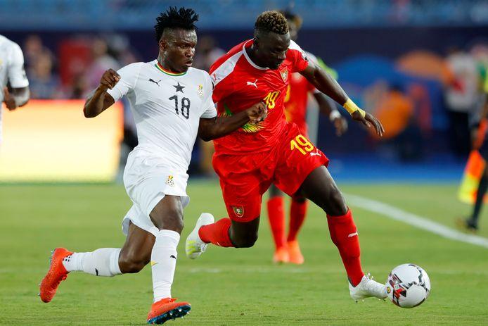 Aidoo (l) is met Ghana actief op de Africa Cup.