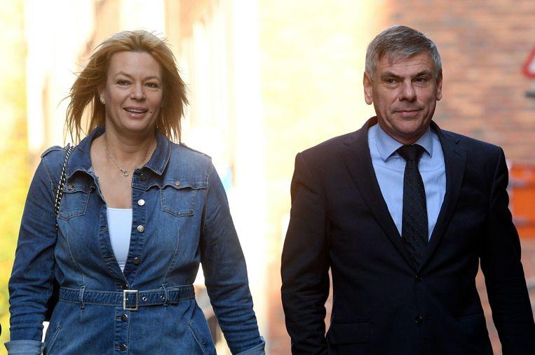 Anke Van dermeersch (Vlaams Belang) en Filip Dewinter. Beeld Photo News